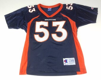 1c3d62f240a Bill Romanowski Denver Broncos Youth Large 14-16 Champion Jersey NFL  Football Vintage 90s FREE Shipping