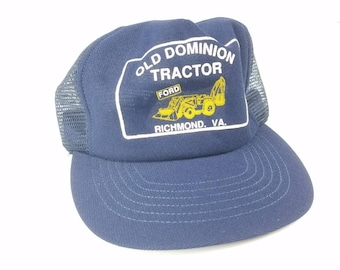 bf1c95e382e Ford Old Dominion Tracker Mesh Trucker Snapback Hat Vintage 80s 90s Made In  USA Richmond Virginia FREE Shipping