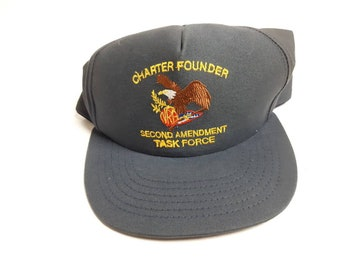 1cc34973478 NRA Charter Founder Second Amendment Task Force Gun Rights Laws Snapback  Hat Cap Vintage 90s FREE Shipping Made In USA
