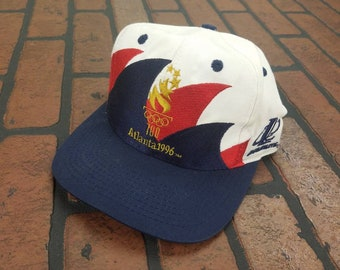 e32cfbd1 Atlanta Olympics 1996 Double Sharktooth Adjustable Snapback Baseball Cap  Hat Vintage 90s FREE Shipping Logo Athletic