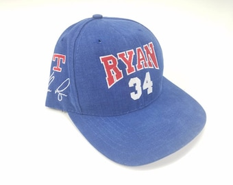 72ff012d4a067b Nolan Ryan Texas Rangers Hall Of Fame 1999 Made In USA American Needle  Adjustable Baseball Strapback Dad Hat Cap Vintage 90s FREE Shipping