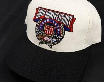 089e786ee48 Nascar Racing 50th Anniversary Adjustable Baseball Cap Hat Vintage 90s  Track Gear Tultex Earnhardt Winston Cup Daytona