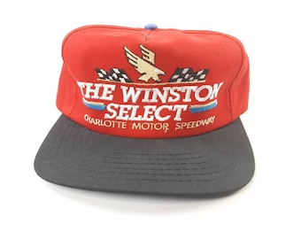 4ddff7a5c68 The Winston Select Charlotte Motor Speedway Annco Made In USA Vintage 90s  Snapback Adjustable Baseball Cap and Hat FREE Shipping
