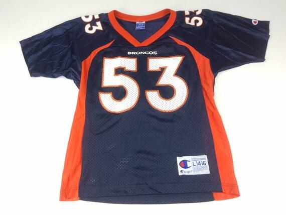 Bill Romanowski Denver Broncos Youth Large 14-16 Champion  4dce2d5af