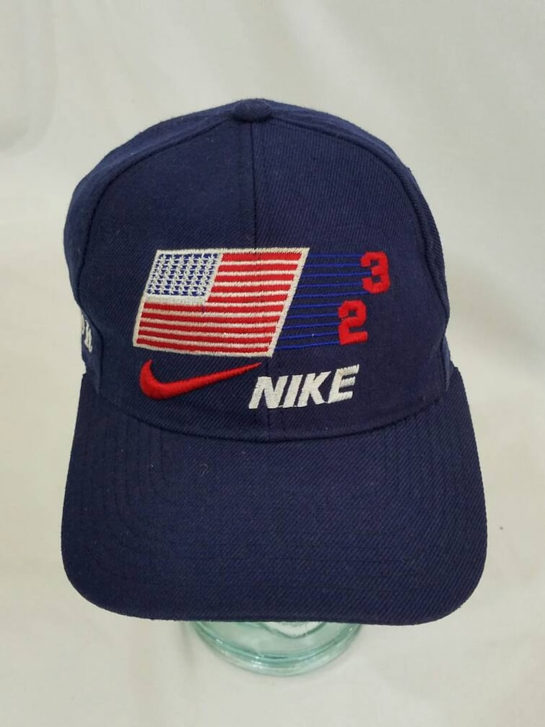8a44a3a0378 Nike Just Do It Swoosh Snapback Hat Michael Jordan Vintage 90s