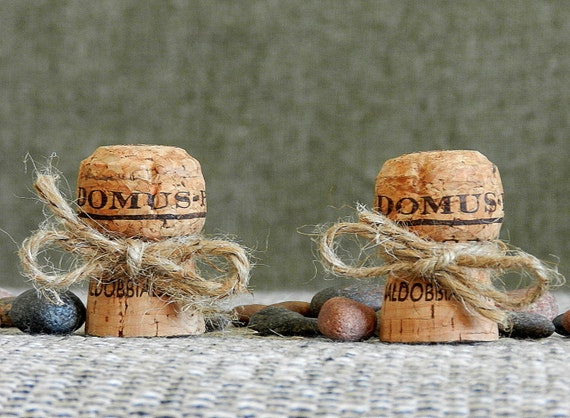 Champagne Place Card Holders Wine Tasting Party Decor Winery Wedding Decor Wine Cork Place Card Holder Rustic Wedding Set Of 20