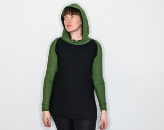 Green/Black Bamboo Fleece Hoody