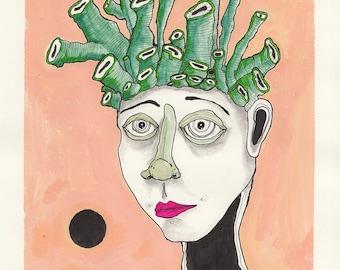Coral Head Print