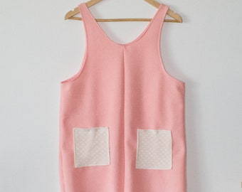Pink + Heart Lace Pinafore