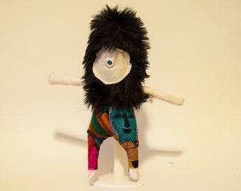 Fuzzy Doll In Black Fur