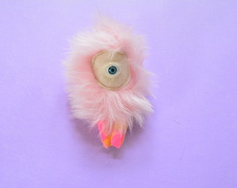 Pink Fuzzy Doll Necklace