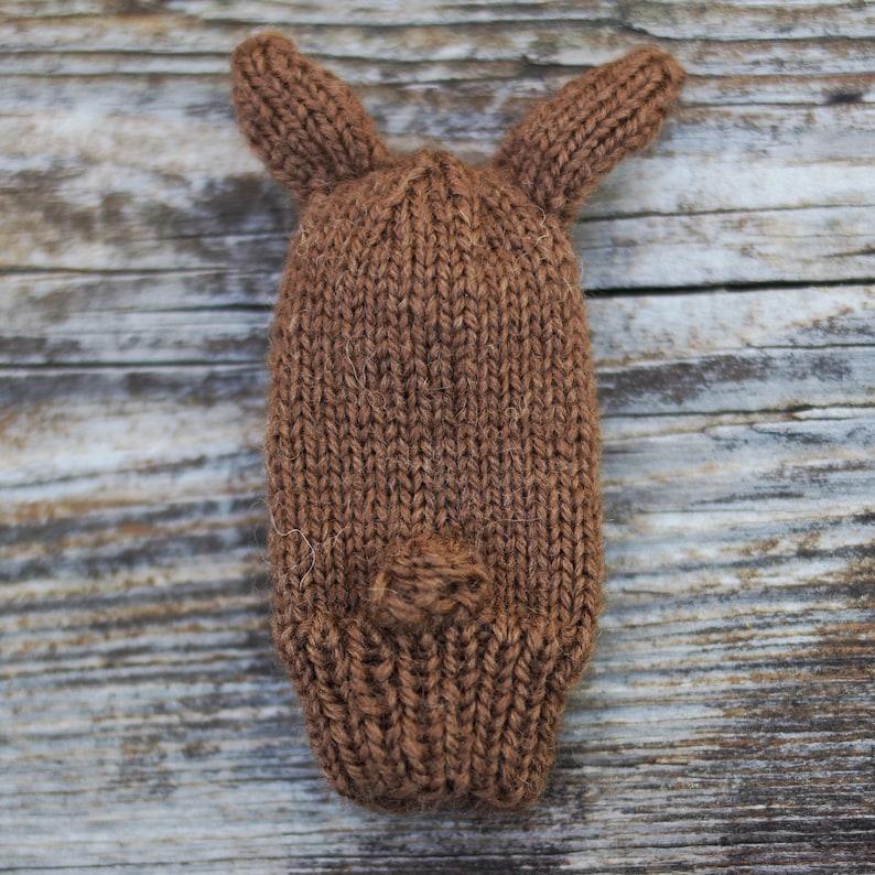 Bunny Knit Wool Finger Puppet