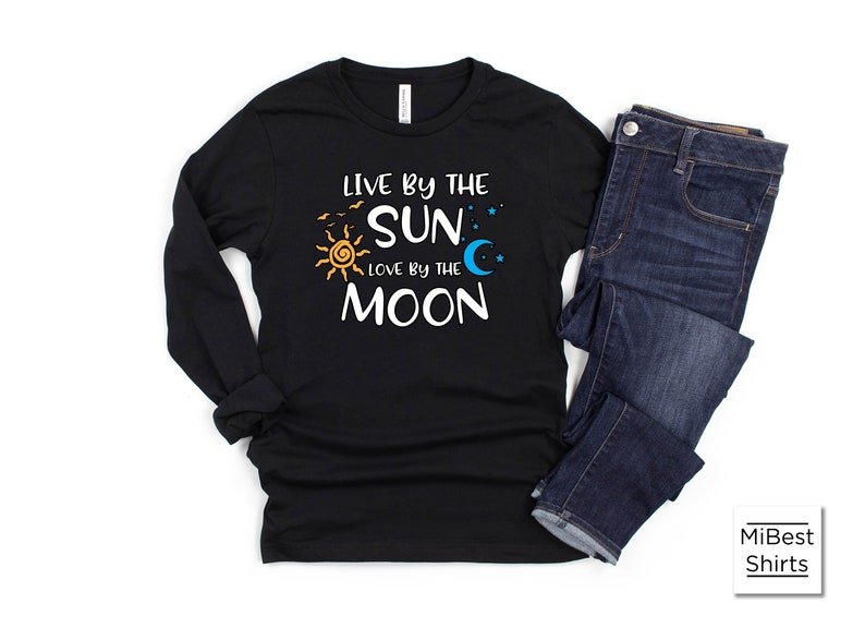 Sleep Lovers Napping Shirt Live by the Sun Love by the Moon Hopeless Romantic Tshirt Sun Moon Quote Gift