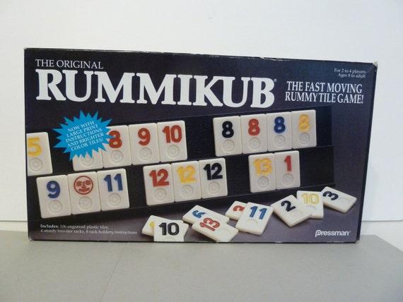 Original Rummikub Game By Pressman Fast Moving Rummy Tile Etsy
