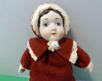 Hallmark Ornament, Circa 1983, Porcelain Doll, Named Diana