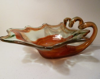 Blown Glass Art Bowl