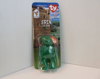 Ty, Beanie Baby, McDonald's, Erin the Bear, Named After Beautiful Emerald Isle, St. Patricks Day Gift, New In Package