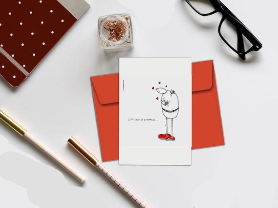 Zitate über Selbstwertgefühl Geburtstagskarte Selbst Liebeskarte Ermutigung Karte Inspirierende Karte Sich Selbst Zu Lieben Karte Introvertierte