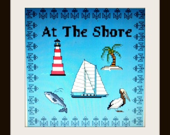 At The Shore- Downloadable Counted Cross Stitch Design Guide & Floss Usage Summary Item #65