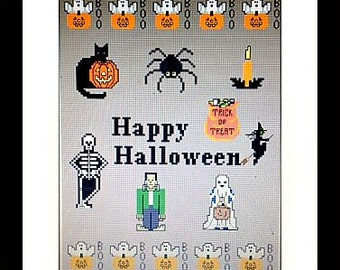 Halloween 2015- Downloadable Counted Cross Stitch Design Guide & Floss Usage Summary Item #79