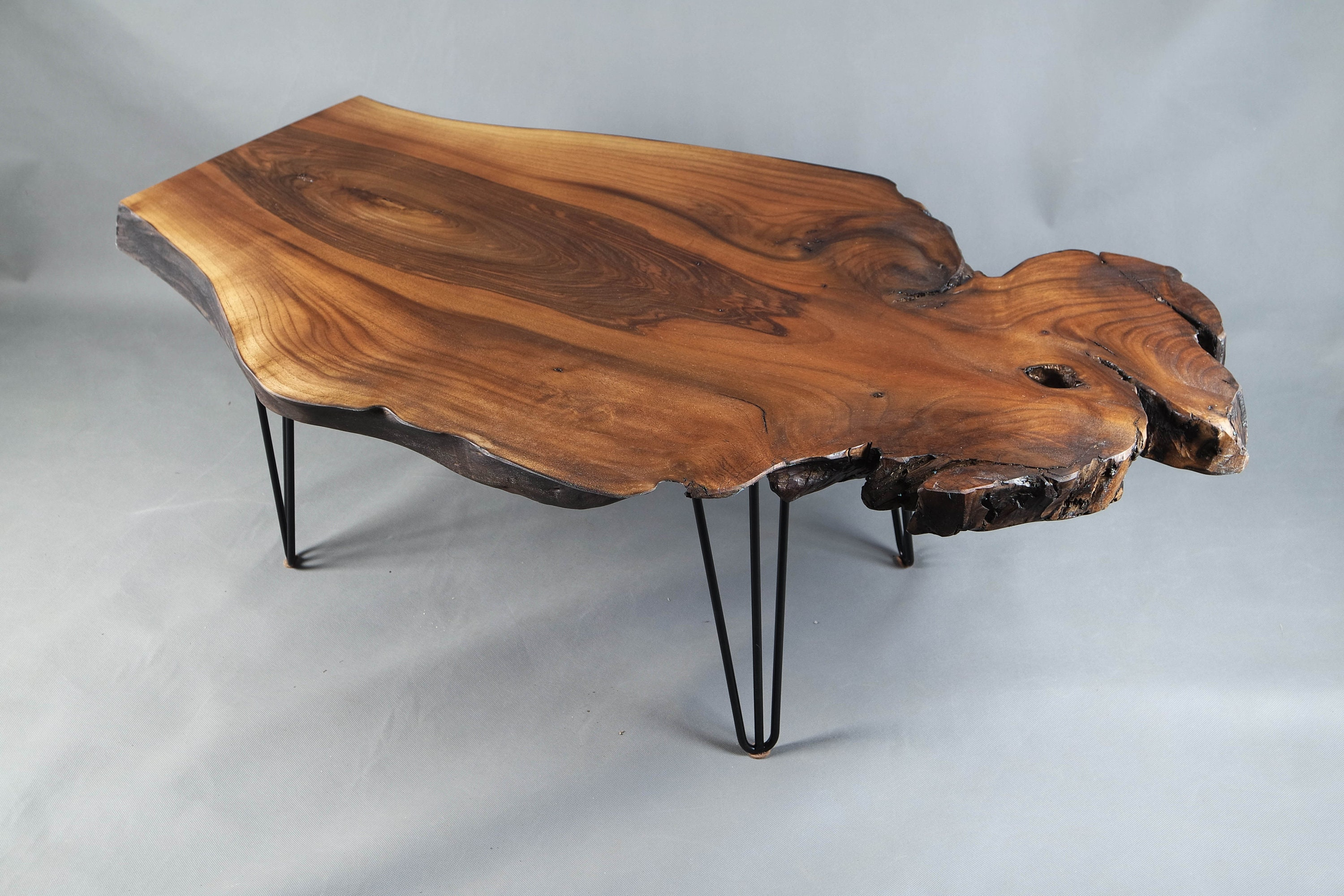 chaussures de sport 7d0b1 18b9f Rustic Coffee Table, Live Edge Table, Table Basse