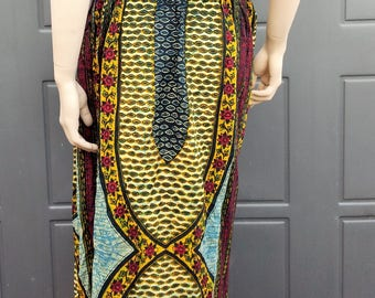 Vintage India cotton skirt draw string waist adjustable up to 37 inches on the waist sz