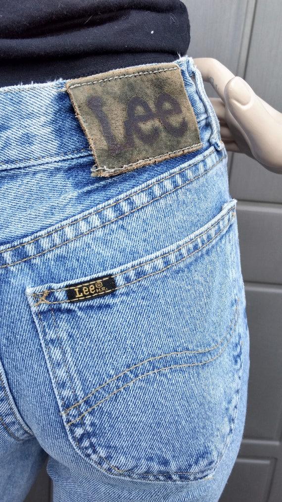 vintage 80's  Lee   Denim Jeans  vintage Lee Wais… - image 5