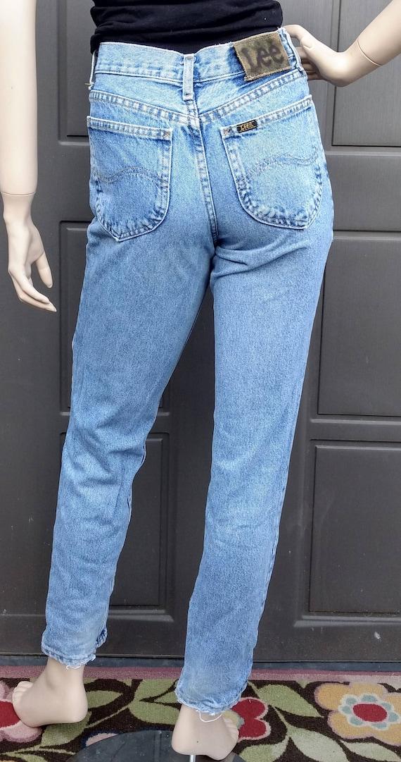 vintage 80's  Lee   Denim Jeans  vintage Lee Wais… - image 3