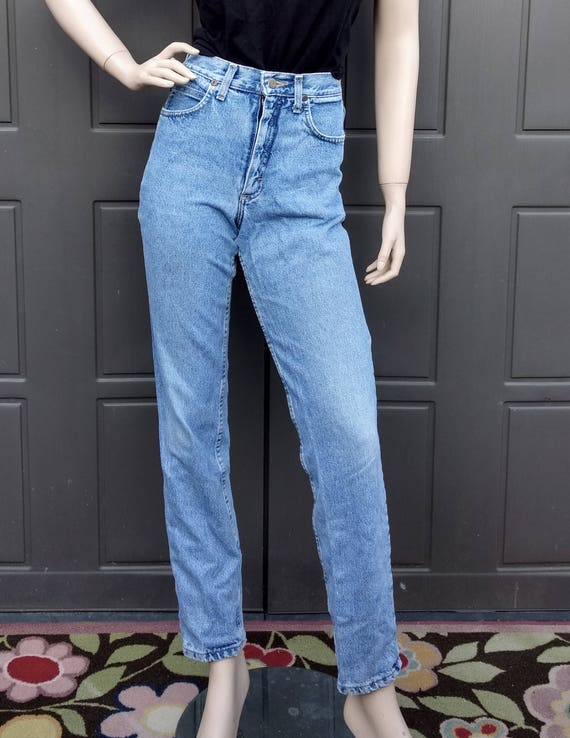 vintage 80's  Lee   Denim Jeans  vintage Lee Wais… - image 2