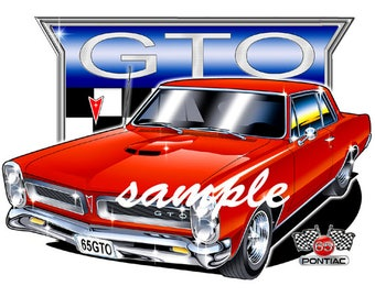 Muscle Car Cartoon Etsy