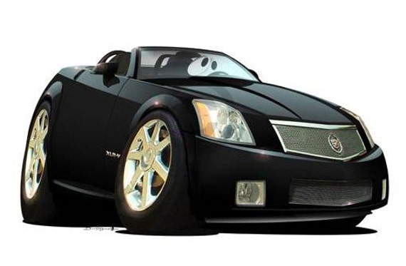 2006 Cadillac Xlr V Roadster Cartoon Tshirt 6845 Muscle Car Etsy