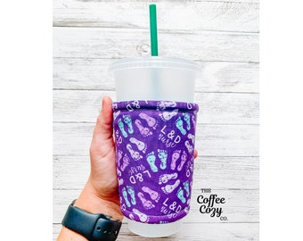 Iced Coffee Cozy| Coffee Sleeve| Reusable Coffee Sleeve | Coffee Cup | RN Labor and Delivery, Nursing, Nursing Student