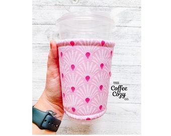 Iced Coffee Cozy, Coffee Sleeve, Reusable Coffee Sleeve, Drink Coozie, Coffee Koozie