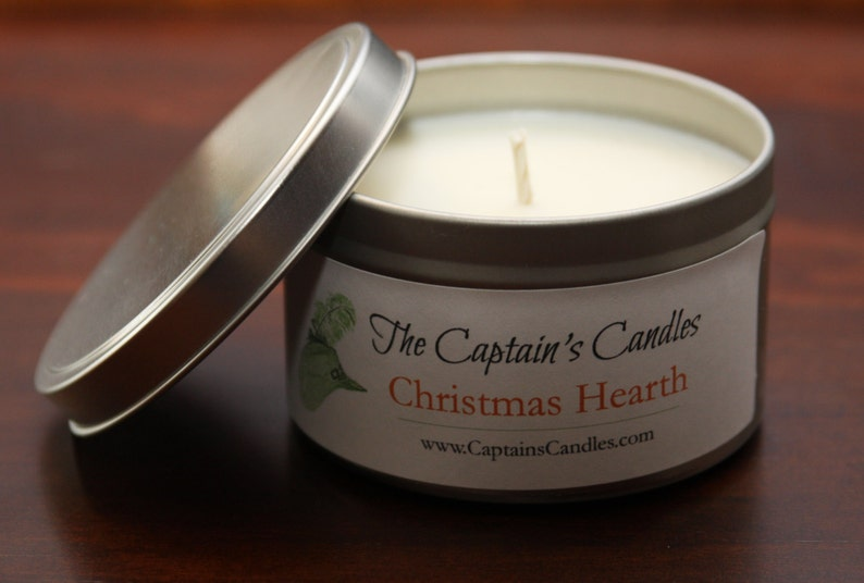 Christmas Hearth Scented Soy Holiday Container Candle Tin image 0