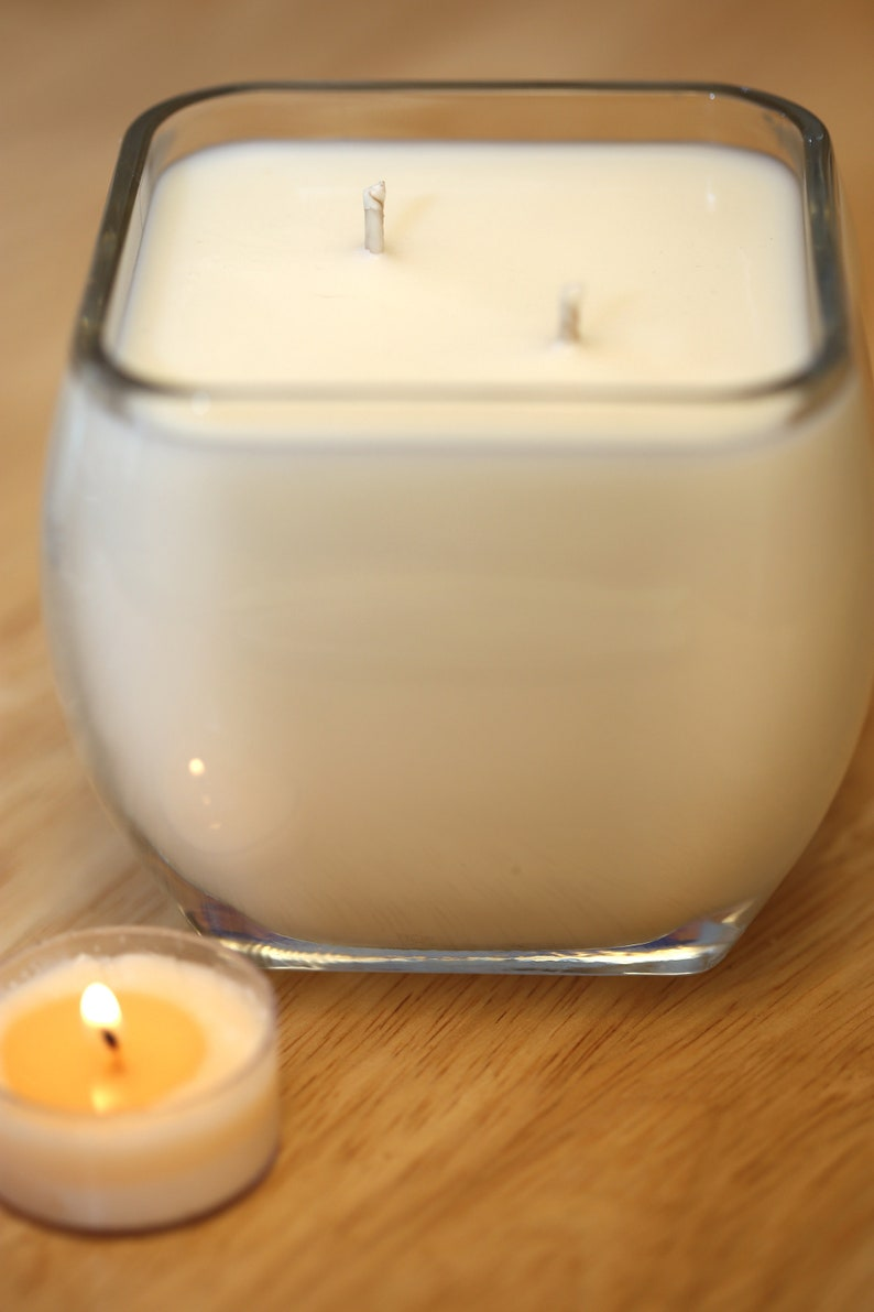 Himalayan Bamboo Glass Container Candle  100% All Natural Soy image 0