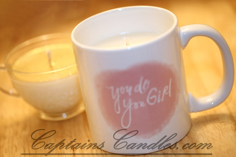 Upcycled Coffee Mug Container Candles  100% Natural Soy image 0