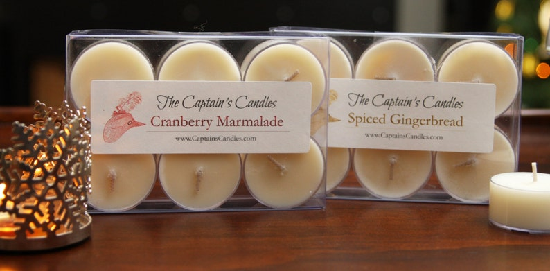 Cape Cod Cranberry Scented Soy Holiday Tealight Candles 100% image 0