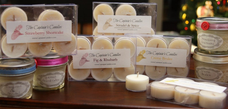 Dessert Scented Soy Tealight Candles Country Kitchen Scented image 0