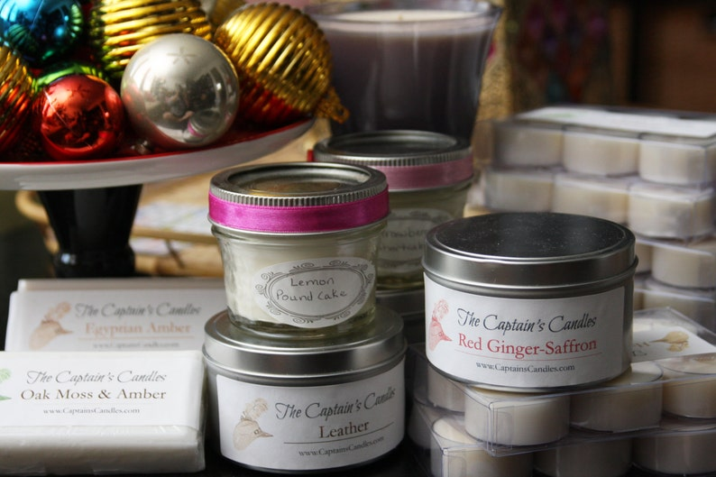 Custom Memorial Candle Tin  100% All Natural Soy Candles  image 0