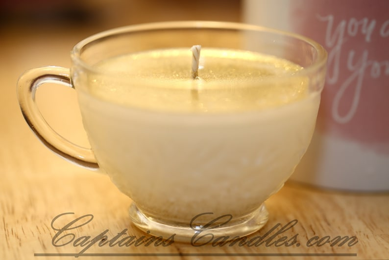 Upcycled Tea Cup Container Candles  100% Natural Soy Candles image 0