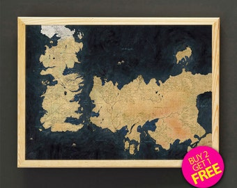 The known world map etsy the known world map print game of thrones map art print poster housewear wall art decor gift linen print buy 2 get free 408s2g gumiabroncs Choice Image