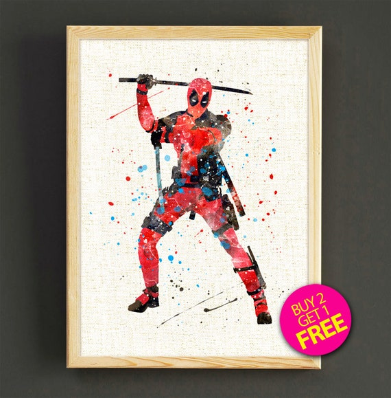 DEADPOOL POSTER Marvel Movie Comic Wall Art Print Picture Photo A3 A4