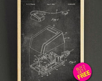 Computer blueprint etsy more colors first computer mouse patent wall art computer mouse blueprint malvernweather Images