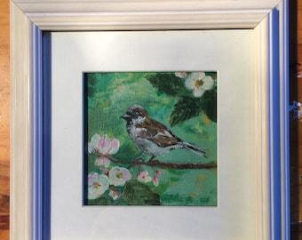 Little bird. Painting