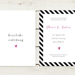 50 x wedding invitation | Stripes No 2