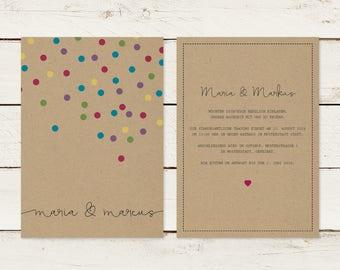 Wedding Invitation | Kraft Paper | No 6