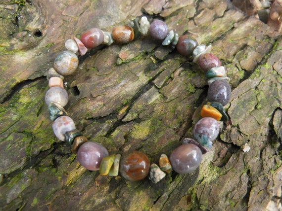 Chakra Lalunasdreams Ocean Salcedon Reiki Moonstone Gems Waldorf Bracelet Healing Stones