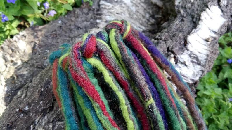 Elven Game Trollabundin Dreadlocks HairPiece Plait Rubber Hippie Hair Jewelry Felt Waldorf