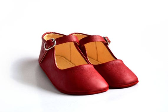 Baby girl red mary janes Christmas baby