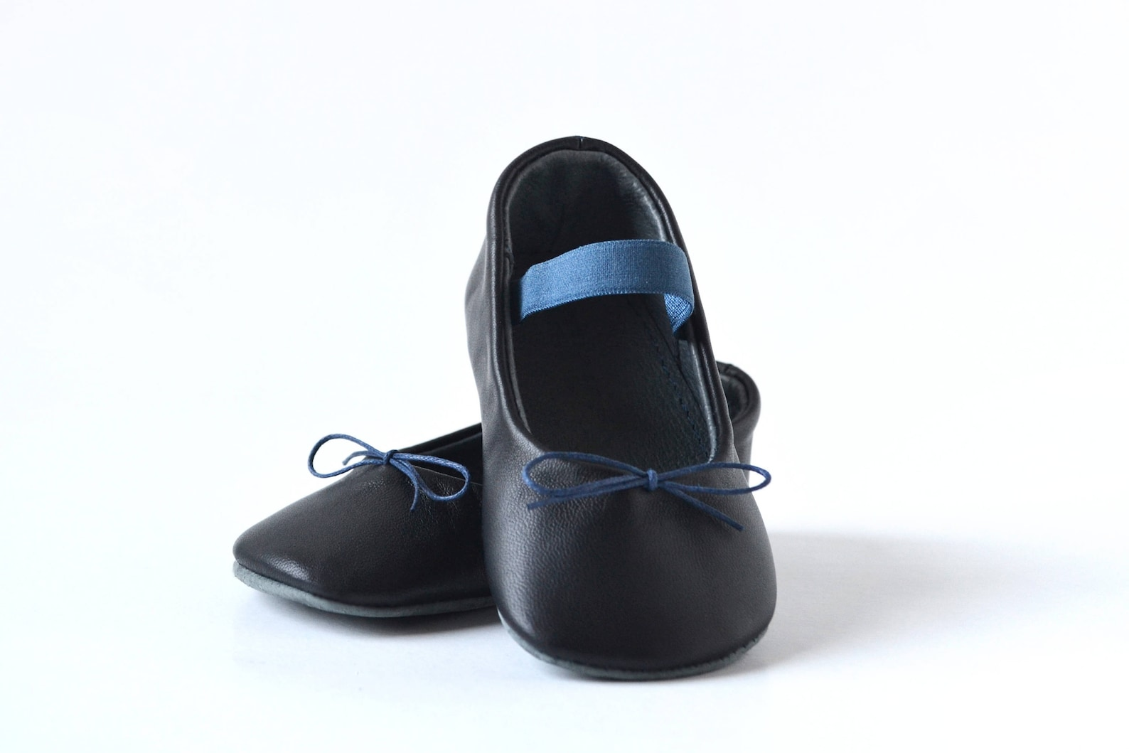baby girl ballerina shoes, baby girl ballet slippers, navy blue baby shoes, baby leather shoes, baby dress shoes, baby girl show